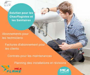 Image Flame Gestion Sanitaires Chauffage