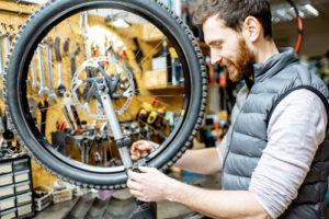 Illustrazione delle applicazioni MCA Colibri: Riparatore di biciclette
