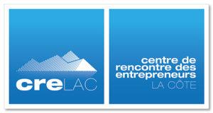 """Logo de l'association """"Crelac"""" / """"Centre de Rencontre des Entreprneurs LA Côte"""""""